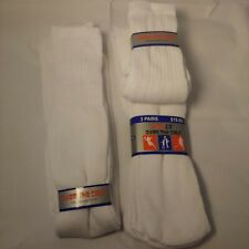 Over The Calf White Tube Socks Rodex 5 Pair Athletic Big Tall RN#96720 Size 9-15