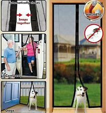Mesh Door Curtain Magnetic Magic Guard Fly Insect Screen Net Mosquito Snap Bug