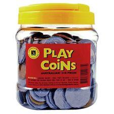 Bulk Australian Play Money Classroom set of Coins - 318 Coins Realistic Size