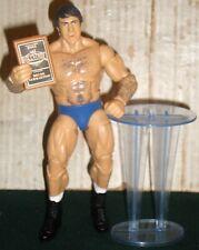 WWE WRESTLING FIGURE MATTEL ELITE BRUNO SAMMARTINO WITH HOF PODIUM & PLAQUE