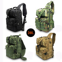 Men's Tactical Sling Chest Bag Assault Pack Camping Hiking Shoulder Bag Backpack