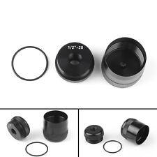 "Aluminum Maglite D Cell Cap Set 1/2""-28 Replacement Combo Threaded End Caps"