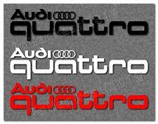 Audi quattro 2 Sets Dekorfolie  Schriftzug Decal Aufkleber --30 Farben-- A0004