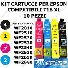 10 CARTUCCE PER EPSON T16XL 16XL WF2510 WF2530 2540 WF2520 2630 2650 WF2660 INK