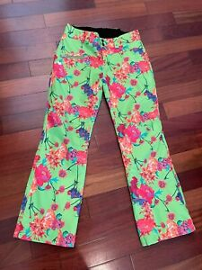 Obermeyer Womens Ski pants Green Floral Size 10