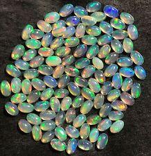 Natural 17.57 Carat Ethiopian Opal Lot 106 Pieces Oval 5x3mm Genuine Gemstones