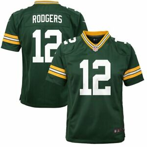 NFL Green Bay Packers #12 Aaron Rodgers Nike On Field Jersey Youth Size XL