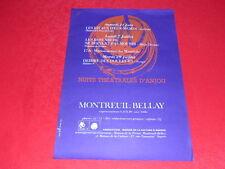COLL.J. LE BOURHIS AFFICHES / NUITS THEATRALES D'ANJOU / MONTREUIL-BELLAY 1969