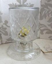 Vintage Lovely Art Deco Cut Glass Crystal Boudoir Bedside Light Lamp Shabby Chic