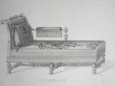 Chaise Longue LOUIS XIII GRAVURE le GARDE-MEUBLE MIDART XIXéme
