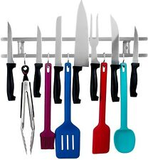 18 In Premium Stainless Steel Magnetic Knife Holder Utensils Kitchen Organizer