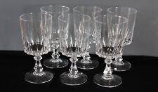 6 verres à eau en cristal d'Arques modèle Louvre lot2