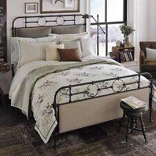 Beekman 1802 Sangerfield Queen Pillow Sham Ivory Gray Stripe $100 Nwt