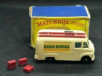 "LESNEY MATCHBOX REGULAR WHEELS 62-2 RADIO ""RADIO RENTALS"" VAN ALL ORIGINAL"