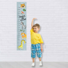African Jungle Safari Custom Measuring Height Growth Chart + 8 Wall Stickers