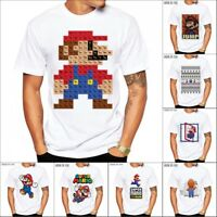 Super Mario Periodic Table Printed T-shirt Men's Casual Short Sleeve Tee Tops
