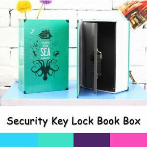 Secret Dictionary Book Safe Hidden Key Lock Security Money Cash Storage Case Box
