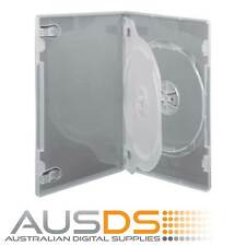 25 X CD / DVD Cases clear triple 14mm spine - Holds 3 Discs
