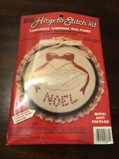 Candlewick Christmas Wall Plaque Kit BELLS Creative Moments 1983 #8637