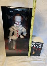 """Mezco Pennywise 18""""  Roto Plush Doll, Stephen King Book Included!"""