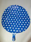 """Lot of 12 North Star Balloons Patriotic Blue & White Star large 20.5"""" Foil"""