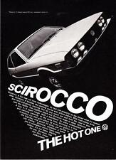 "1975 Volkswagen Scirocco 2+2 Sport Coupe photo ""The New Hot One"" promo print ad"