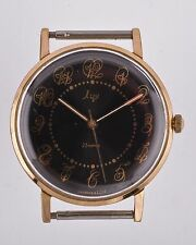 Vintage Luch 23 jewels RUSSIAN watch  mechanical 2209 GOLD plated  USSR
