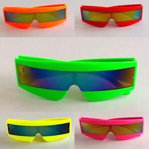 Visor Wrap Around Sunglasses XMen/Robot/Cyclops/Lady Gaga/Daft Punk/Neon Glasses