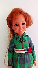 "Teenage Crissy Doll Green Dress 1972 Ideal Look Around Hair Grow 18"" Vintage"