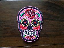 patch skull tete de mort mexican sugar cavalera custom rose thermocollant 7x5