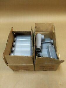 "New Hubbell EALR-3 1"" Aluminum Conduit Body Lot of 17 """"""AK"""""""
