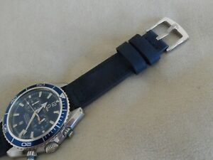 Blue Leather Watch Strap to fit Omega Seamaster Speedmaster 20mm Quick Release