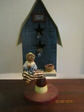 """boyds bears decorative bird house wooden 12 """" tall with metal roof"""