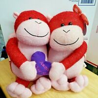 Sugar Loaf Red Monkey Couple Always By Your Side Stuffed Plush Pair Love in Air