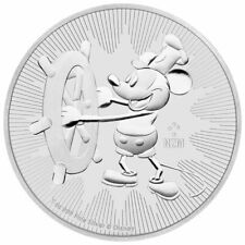 NIUE 2017 STEAMBOAT WILLIE 1 Oz SILVER GILDED WITH BOX /& COA v10