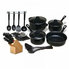 MODA FINA 32-PC KITCHEN COMBO SET COOKWARE POTS and PANS CUTLERY FLATWARE &TOOLS