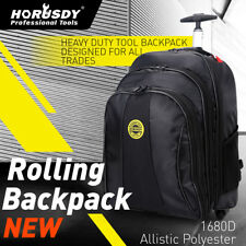 HORUSDY Tool Backpack Bag Rolling Mobile Toolbox Cart Organizer Wheels Storage
