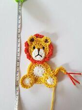 1 crochet lion applique / embellishment/card making