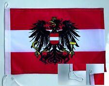 Österreich Bootsfahne Bootsflagge Fahne Schiffsfahne Flagge Fahne 45x30cm NEU