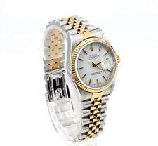 Rolex 16233 Oyster Perpetual Datejust automático 18k oro acero con caja papeles