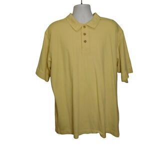 Turfer Sportswear Men's polo Sz 2XL Mohawk Yellow