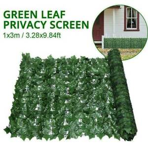 3mx1m Artificial Ivy Leaf Hedge Roll Privacy Fence Screen Wall Landscaping Cover