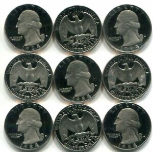 Roll of 40 GEM PROOF CAMEO 1984-S Washington Quarters - Free Shipping