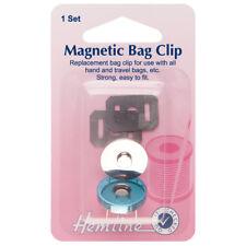 HEMLINE MAGNETIC BAG CLIP CLASP FASTENER CLOSURE - SILVER 19mm / 0.74inch bnew