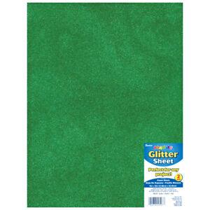 Foamies Glitter Foam Sheet Green 2Mm Thick 9 X 12 Inches