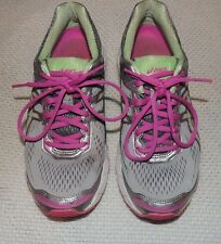 ASICS WOMEN'S T5A8N  GT-1000 RUNNING SHOES Silver/Pistachio/Pink US 7 D NICE!!