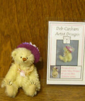 "DEB CANHAM Artist Designs LITTLE MISS PRIMM, Hot Editions Coll. 3.5"" mohair LE"