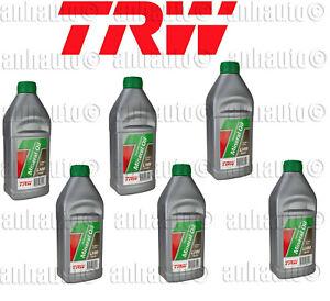 Set of 6  Hydraulic System Fluid  Oil TRW Jaguar Bentley Rolls-Royce
