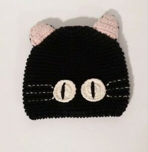Crocheted or Knitted Black Cat Baby Gap baby 0-6 months Camryn Bader Hat