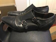Giorgio Brutini Black Leather Monk Straps Loafers Men's Shoes Size 12